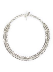 Philippe Audibert 'Oliver' Tiered Mix Chain Necklace Metallic