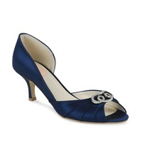 Paradox London Pink Open Wasited Amelia Peep Toe Shoes Navy