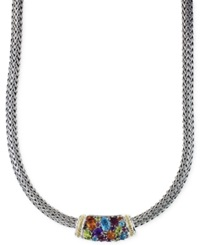 Effy Collection Effy Multistone Necklace In Sterling Silver And 18K Gold 4 2 5 Ct. T.W. Yellow Gold