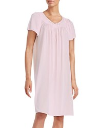Miss Elaine Floral Accented Nightgown Pink