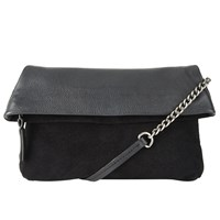 John Lewis Collection Weekend By Mini Mia Leather Clutch Bag Black
