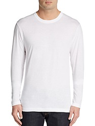 2Xist Long Sleeve Cotton Tee White