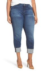 Nydj Plus Size Women's 'Lorena' Stretch Wide Cuff Skinny Boyfriend Jeans