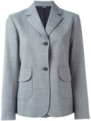 Jil Sander Navy Two Button Blazer Grey