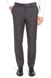 Pal Zileri Men's Flat Front Solid Wool Trousers Grey