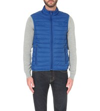 Armani Jeans Quilted Shell Gilet Azzurro Blue