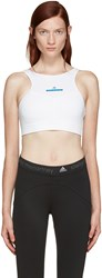 Adidas By Stella Mccartney White Hilt Sports Bra