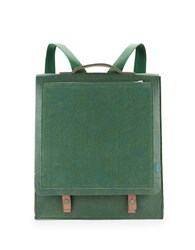 M R K T Mateo Felt And Faux Suede Backpack Green