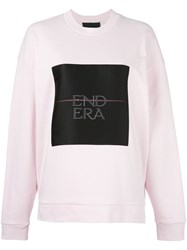Alexander Wang End Era Print Sweatshirt Pink Purple