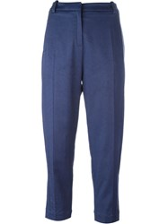 Ilaria Nistri Cropped Trousers Blue