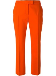 Akris Cropped Trousers Yellow And Orange