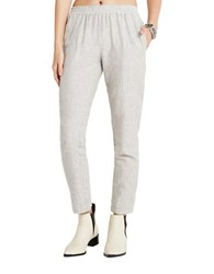 Bcbgeneration Cropped Tapered Leg Pants Navy White