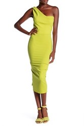 Issue New York One Shoulder Dress Green