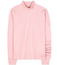 Marni Asymmetrical Cotton Sweatshirt Pink
