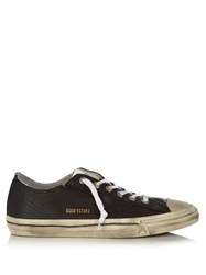 Golden Goose V Star Low Top Leather Trainers Black Multi