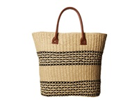 San Diego Hat Company Bsb1362 Straw Tote W Contrast Color Band Natural Tote Handbags Beige