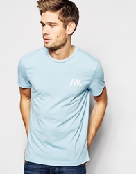 Jack Wills T Shirt With Jw Logo And Back Print Skyblue
