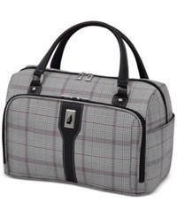 London Fog Knightsbridge 17 Cabin Tote Available In Brown And Navy Glen Plaid Macy's Exclusive Colors Grey Glen Plaid