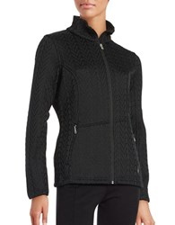 Spyder Cable Knit Zip Front Jacket Black