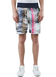 James Long Multi Coloured Woven Boxer Shorts Black