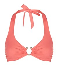 Lazul Yasmin Halterneck Bikini Top Female Orange