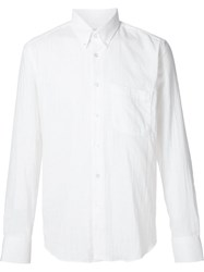 Naked And Famous Naked And Famous Wrinkled Shirt White