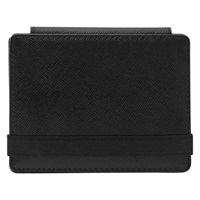 Reiss Chet Leather Fold Wallet Black