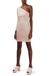 Topshop Women's One Sleeve Foil Body Con Dress