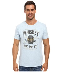 Lucky Brand Whiskey Made Me Graphic Tee Spring Blue Men's T Shirt