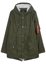 Alpha Industries Army Green Raincoat Olive