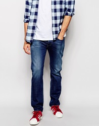 Diesel Jeans Buster 836X Regular Tapered Fit Mid Blasted Wash Midblasted