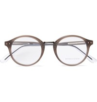 Bottega Veneta Round Frame Acetate Optical Glasses Gray