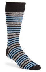 Lorenzo Uomo Men's Double Stripe Socks