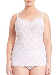 Hanky Panky Plus Size Annabelle Lace Camisole White Baby
