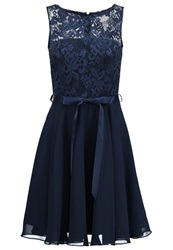 Swing Cocktail Dress Party Dress Schwarz Blau Dark Blue