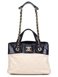 Chanel Vintage Small 'The Mix' Tote Nude Neutrals