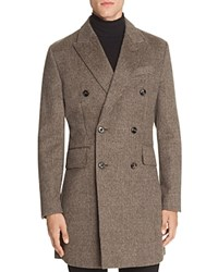 Hardy Amies Plaid Double Breasted Coat Mink