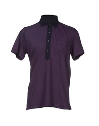 Piombo Topwear Polo Shirts Men Purple