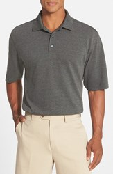 Men's Cutter And Buck 'Championship' Classic Fit Drytec Golf Polo Charcoal