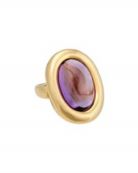 Poiray Indrani 18K Yellow Gold Oval Amethyst Ring Purple