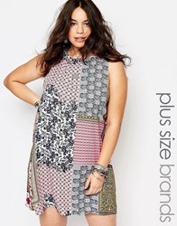 Alice And You Patchwork Printed Shift Dress Multi