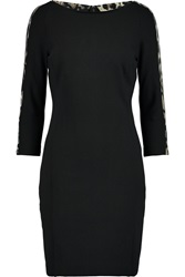 Just Cavalli Cutout Stretch Cady Mini Dress Black