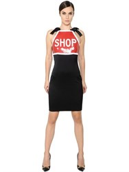 Moschino Shop Sequined Stretch Satin Dress