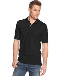 Club Room Big And Tall Men's Polo Shirt Only At Macy's Deep Black
