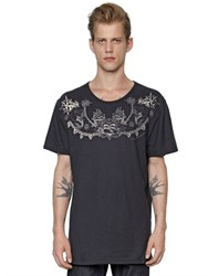 Alexander Mcqueen Sailor Print Light Cotton Jersey T Shirt