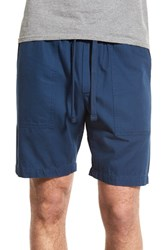 Men's Obey 'One O Traveller' Twill Drawstring Shorts Navy