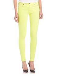 True Religion Halle Neon Mid Rise Skinny Jeans