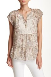 Daniel Rainn Crochet Accented Blouse Green