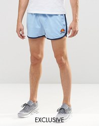 Ellesse Retro Shorts Placid Blue Red