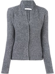 Fabiana Filippi Collar Detail Cardigan Grey